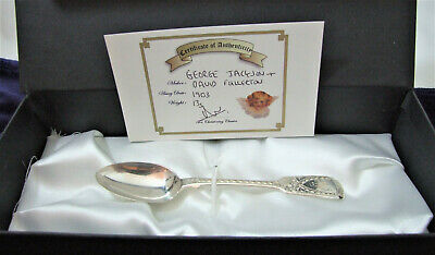 GIRL Victorian Christening Spoon 1881 Christening Classic BOXED + COA 8g