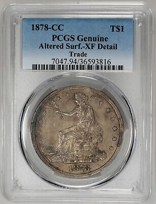 1878-CC T$1 Trade Dollar - PCGS Genuine XF Detail Certified US Rare Coin