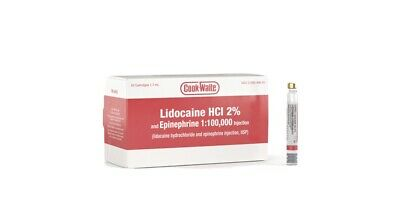 Cook-Waite Lidocaine HCL 2% with Epinephrine 1:100,000 Local Anesthetic, Box
