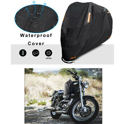 Black XXL Motorcycle Waterproof Outdoor Scooter Motorbike Bike Cover UV Protect