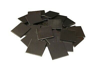 """30pc 16ga (.06) C1008/1010 Cold Rolled Steel CRS 1""""x1"""" Square Weld Sheet Plates"""