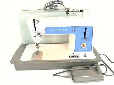 Vintage Singer Sewing Machine Model 604 Touch & Sew w/ Case Tested BOBBIN ISSUE