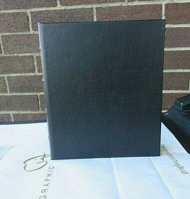 """Graphic Image Large 10x12"""" Leather Photo Album 3 Ring Binder Clear Pockets 4x6"""