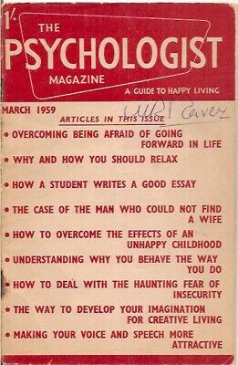 the PSYCHOLOGIST magazine-MAR 1959-a guide to happy living.