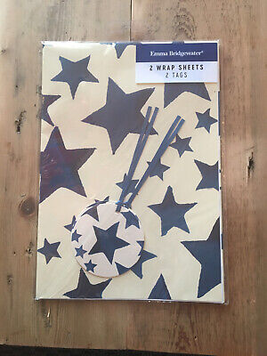 Emma Bridgwater Gift Wrap & Tags Pack Stars Brand New