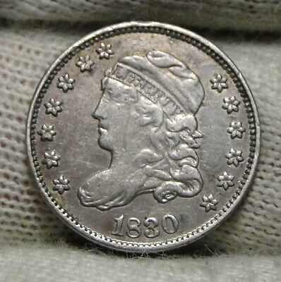 1830 Capped Bust Half Dime H10C 5 Cents - Nice Old Coin, Free Shipping  (7997)