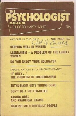 the PSYCHOLOGIST magazine-NOV 1973-a guide to happy living.