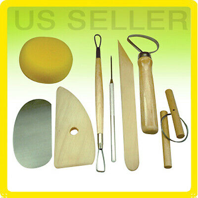 8 Pcs Pottery Tool Set Clay Sculpting Modeling Ceramics Art Kit