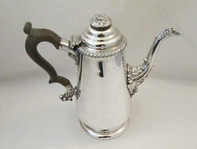 A Tall Antique Old Sheffield Plate Coffee Pot c1820