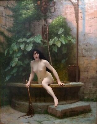 Truth Coming Out of Her Well Jean-Leon Gerome A0,A1,A2,A3,A4 Poster