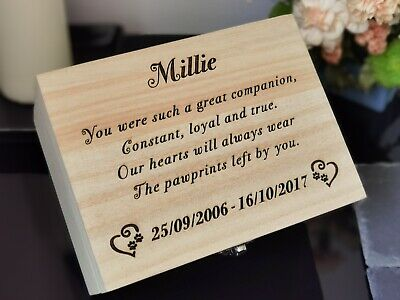 Cremation Box Urn Dog Cat Memory Ashes Urn Box Personalised Ashes Casket Pet Urn