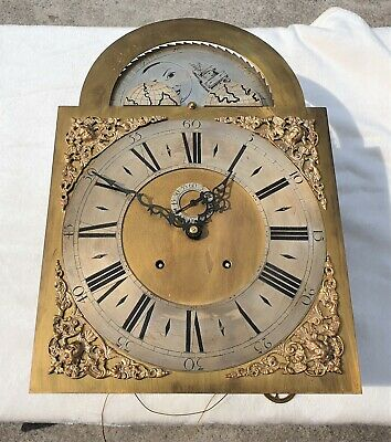 Kieninger Rolling Moon Grandfather Clock Dial & Movement   Free Uk Postage