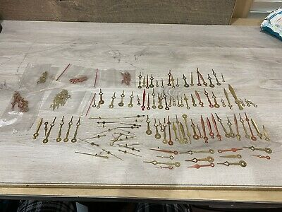 Large Lot of Assorted Brass Vintage & Antique Clock Hands