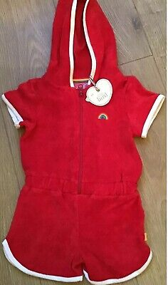 Little Bird By Jools Oliver Red Towelling Beach Short Jumpsuit 12-18 Months 🍄🌈