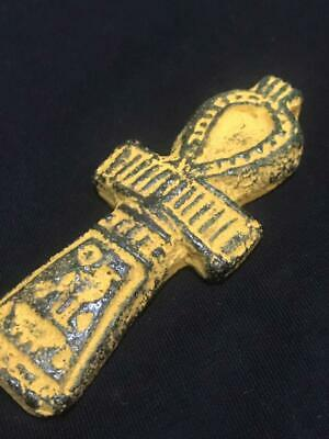 Rare ancient egyptian antique faience amulet Ankh key of life 1550-1069 bc