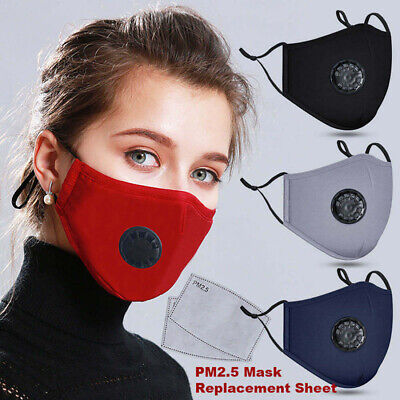 Reusable Washable PM2.5 Anti Air Pollution Face Cover & Activated Carbon Filters