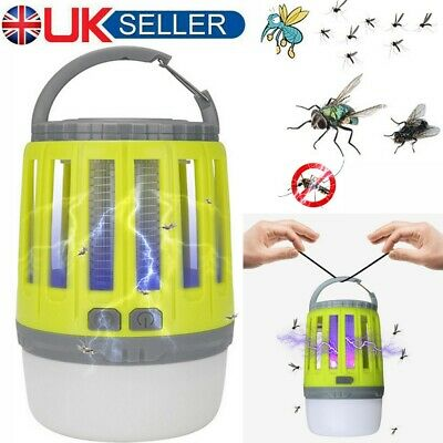 Electric Insect Mosquito Fly Killer UV Light Outdoor Camping Bug Zapper Indoor