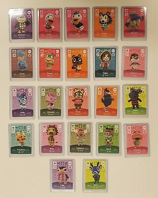 Animal Crossing Amiibo Cards Series 3 Select Cards. Unscanned And With Sleeve