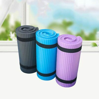 15mm Non-Slip Yoga Mat Exercise Fitness Pilates Camping Gym Meditation Thick NBR