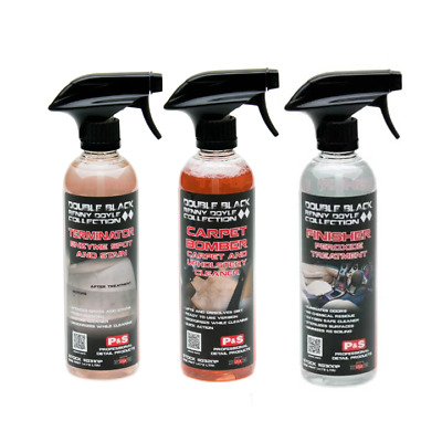 P&S Renny Doyle Double Black Carpet & Upholstery Cleaner Kit - SET OF 3