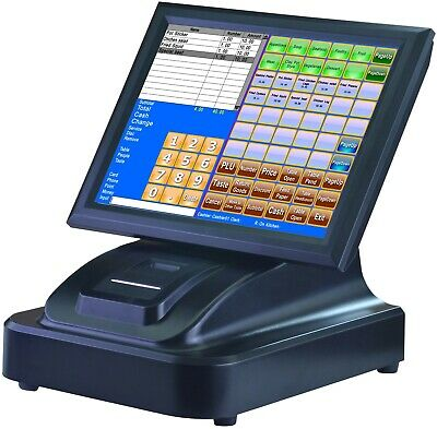 Touch Screen POS System Restaurant Cafe Pizza Fish Chips Takeaway Cash Registers