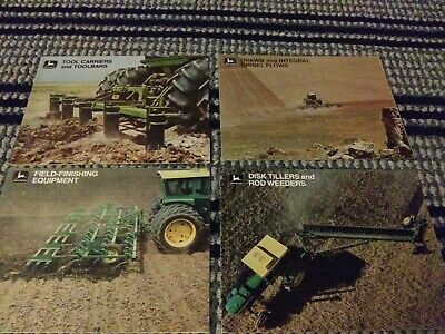 1970's John Deere Tractor Sales Brochure Field Finishing Equipment and 3 others
