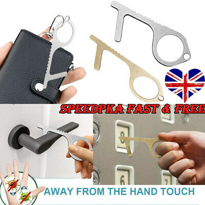 Contactless Safety Door Opener Safe Protection NO Touch Brass Key Opener Kits U❀