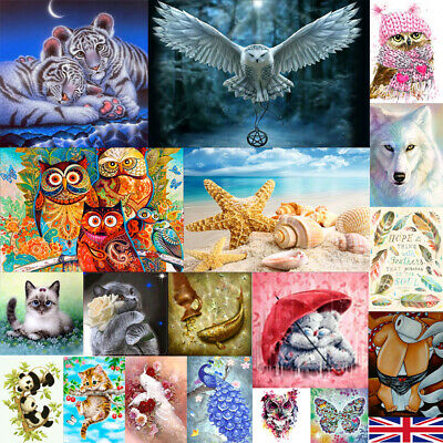 DIY Animal 5D Diamond Painting Hand Embroidery Cross Stitch Wall Decor Crafts UK