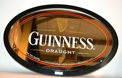 """Guinness Beer Draught Mirror Oval Shaped 35"""" x 24"""" (SB1056733)"""