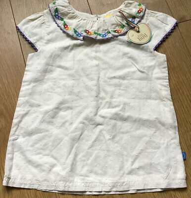 Little Bird By Jools Oliver Age 5-6 Years Girls Embroidered Collar Blouse / Top