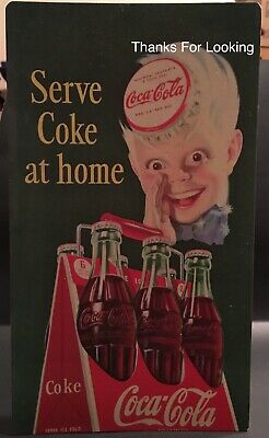 1915 Coca-Cola Gum Die Cut Store Counter Standup Sign Dutch Boy Coke Repro