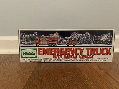 2005 HESS Emergency Fire Truck with Rescue Vehicle **NIB**