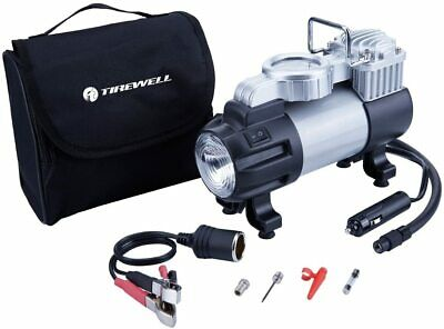 TIREWELL 12V Tire Inflator - Heavy Duty Direct Drive Metal Pump 150PSI, Portable