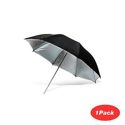 "1Pack 40"" Wide Black/Silver Premium Umbrella Reflector Photo Video Studio"
