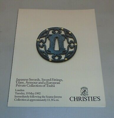 Christie's May 1992 Japanese Swords Guns Armour Private Auction Catalog Book