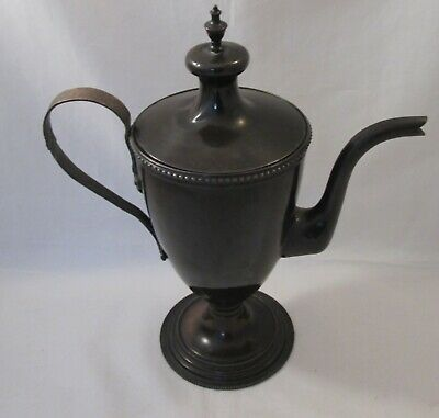 A Fine Antique Early 19th Century Metal Toleware Coffee Pot