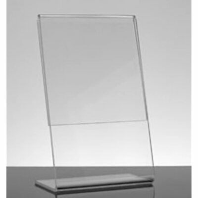 6-Pack Acrylic 5 X 7 Slanted Sign Holders Business And Store Office Products