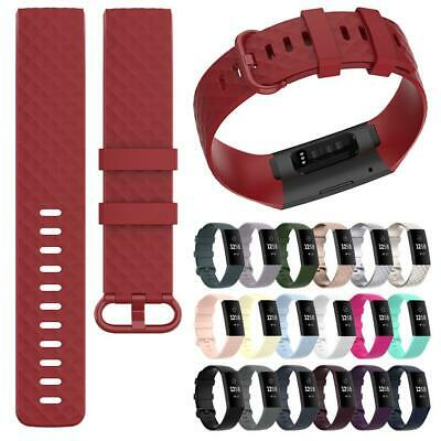 For Fitbit Charge 3/4 Watch Band Strap Replacement Wristband Silicone Bracelet