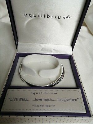 Equilibrium Silver Plated Sentimental Happiness Shared Love Bangle 54356