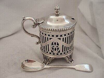 Mustard Pot Large Size Mid Victorian Sterling Silver Sheffield 1859
