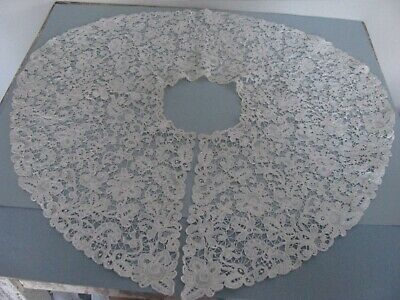 Antique Victorian Lace Collar Hand Done Honiton Bobbin Stunning Large Bertha