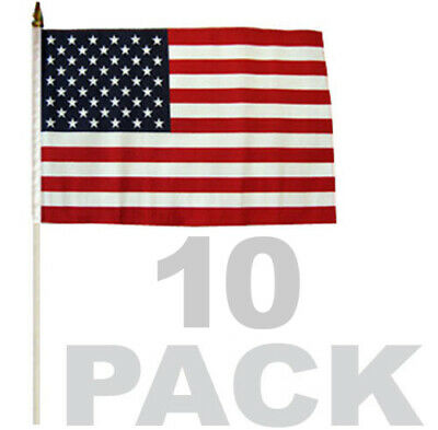 "12x18 USA American /& US Virgin Islands 2 Pack Flag Wholesale Combo 12/""x18/"""