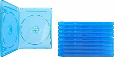 NEW 10 Pack Double Blu Ray  12mm Standard Replacement Cases blue bluray Plastic