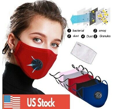 Cotton Face Mask Washable Reusable Activated Carbon respirator FREE SHIPPNG