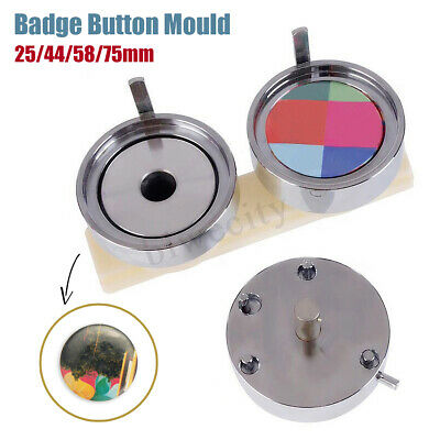 25/44/58/75mm Round Badge Pin Making Mould Button Maker Punch Press Machine