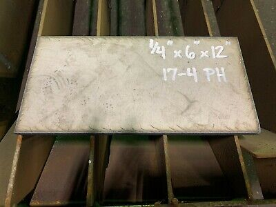 "Stainless Steel 17-4,  Plate bar , 1/4"" x 6"" x 12"""