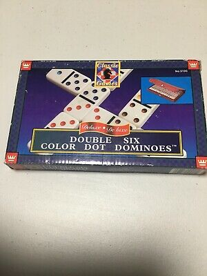 Classic Games Deluxe Double Six Color Dot Dominoes (1996)