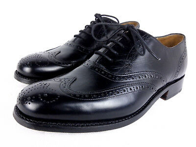 Barker Glasgow Goodyear Welted Brogue G Wide Fit Leather Shoes Black Calf 202B