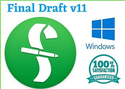 Final Draft v11 Screenwriting Software E-mail Delivery / WindØwડ