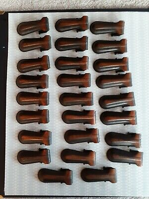 Vintage 26 Stair Carpet Metal Clips grips compared patina 13 pairs